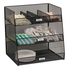 SAF3293BL - Safco® Onyx™ Breakroom Organizers