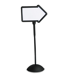 SAF4173BL - Safco® WriteWay™ Double-Sided Dry Erase Standing Message Sign