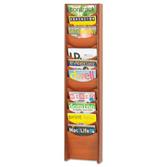 SAF4331CY - Safco® Solid Wood Wall-Mount Literature Display Rack