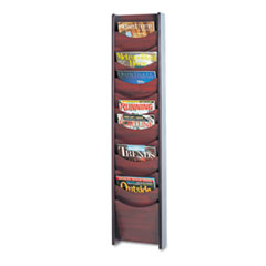 SAF4331MH - Safco® Solid Wood Wall-Mount Literature Display Rack