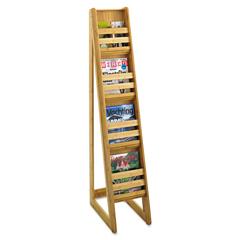 SAF4622NA - Safco® Bamboo Magazine/Pamphlet Floor Display