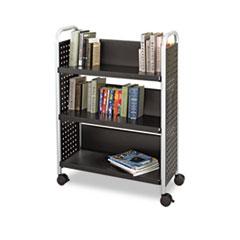 SAF5336BL - Safco® Scoot™ Single-Sided Steel Book Cart