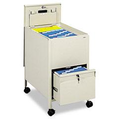 SAF5364PT - Safco® Locking Mobile Tub File with Drawer