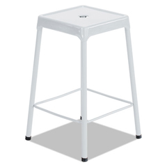 SAF6605WH - Safco® Counter-Height Steel Stool