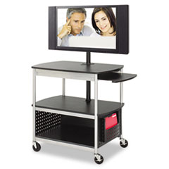 SAF8940BL - Safco® Scoot™ Open Flat Panel Multimedia Cart