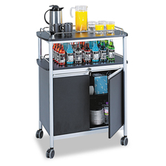 SAF8964BL - Safco® Mobile Beverage Cart