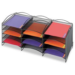 SAF9430BL - Safco® Onyx™ Mesh Literature Sorter