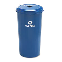 SAF9632BU - Safco® Tall Round Recycling Receptacle for Cans