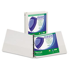 SAM17237 - Samsill® Clean Touch® Round Ring View Binder with Antimicrobial Protection