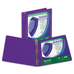 SAM17268 - Samsill® Clean Touch® Round Ring View Binder with Antimicrobial Protection