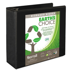 SAM18990 - Samsill® Earths Choice™ Biobased + Biodegradable Round Ring View Binder