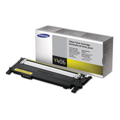 SASCLTY406S - Samsung CLTY406S Toner, 1000 Page-Yield, Yellow