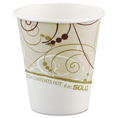 SCC376SMSYM - Solo Paper Hot Cups, 6 oz.