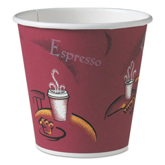 SCC410SI0041 - SOLO® Cup Company Single-Sided Poly Paper Hot Cups in Bistro® Design