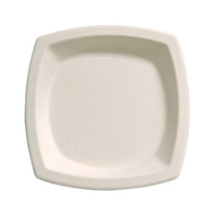 SCC6PSC - Solo Bare™ Eco-Forward® Sugarcane Square Dinnerware