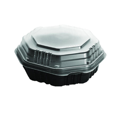 SCC809011-PP94 - Solo OctaView Hinged-Lid Hot Food Containers