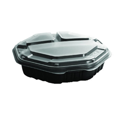SCC809014-PP94 - Solo OctaView Hinged-Lid Hot Food Containers