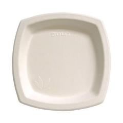 SCC8PSC - Solo Bare™ Eco-Forward® Sugarcane Square Dinnerware
