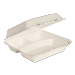 SCCHC9CSC2050 - Dart® Bare® by Solo® Eco-Forward® Bagasse Hinged Lid Containers