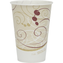 SCCR7NSYM - Solo Symphony Design Wax-Coated Paper Cold Cup