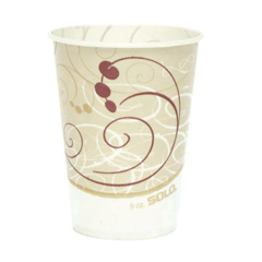 SCCR9NSYM - Solo Symphony™ Design Wax-Coated Paper Cold Cup