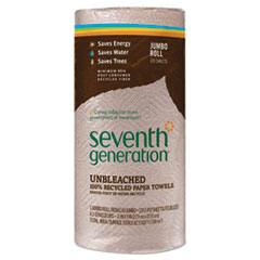 SEV13720CT - Seventh Generation Natural Unbleached 100% Recycled Paper Towel Rolls