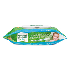SEV34208CT - Seventh Generation® Free  Clear Baby Wipes