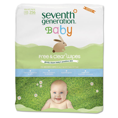 SEV34219CT - Seventh Generation® Free  Clear Baby Wipes