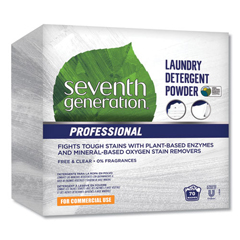 SEV44734EA - Seventh Generation Professional Powder Laundry Detergent, Free & Clear