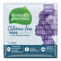 SEV450039 - Seventh Generation Chlorine-Free Ultra Thin Pads with Wings