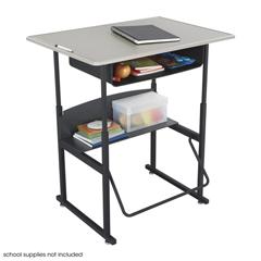 SFC1207BE - SafcoAlphaBetter® Desk, 36 x 24 Standard Top with Book Box