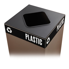 SFC2989BL - SafcoPublic Square® Recycling Lids for Plastic
