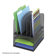 SFC3266BL - SafcoOnyx™ Mesh Desk Organizer with 5 Vertical/3 Horizontal Sections