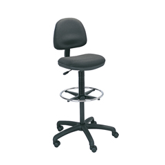 SFC3401BL - SafcoPrecision Extended Height Swivel Stool with Adjustable Footring