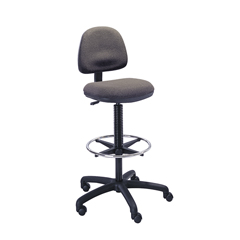 SFC3401DG - SafcoPrecision Extended Height Swivel Stool with Adjustable Footring