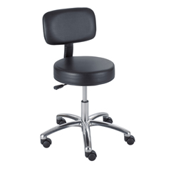SFC3430BL - SafcoPneumatic Lab Stool With Back
