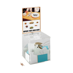 SFC4234CL - SafcoLarge Acrylic Collection Box