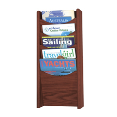 SFC4330MH - SafcoSolid Wood Wall-Mount Literature Display Rack
