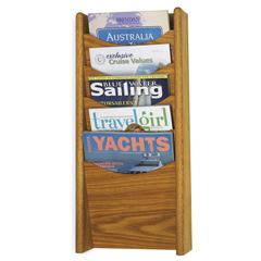 SFC4330MO - SafcoSolid Wood Wall-Mount Literature Display Rack