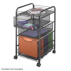 SFC5213BL - SafcoOnyx™ Mesh Mobile File with Two Supply Drawers
