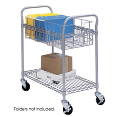 SFC5235GR - SafcoHeavy-Duty Steel Wire Mail Cart