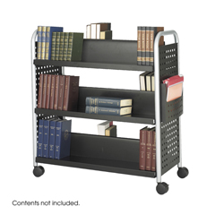 SFC5335BL - SafcoScoot™ Double-Sided Steel Book Cart