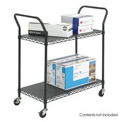 SFC5337BL - SafcoTwo Shelf Wire Utility Cart