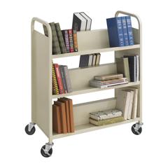 SFC5357SA - SafcoSteel Double-Sided 6-Shelf Book Cart