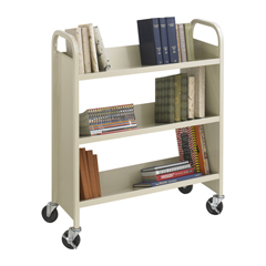 SFC5358SA - SafcoSteel 3-Shelf Single-Sided Book Cart