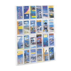 SFC5601CL - SafcoReveal™ Clear 24 Pamphlet Display