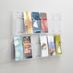 SFC5604CL - SafcoReveal™ Clear 12 Pamphlet Display