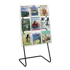 SFC5619BL - SafcoReveal™ Magazine Display Floor Stand