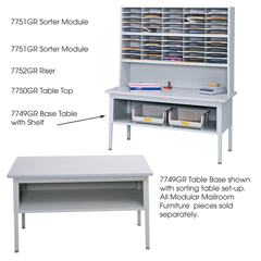 SFC7749GR - SafcoE-Z Sort® Sorting Table Base Only