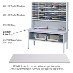 SFC7750GR - SafcoE-Z Sort® Sorting Table Top Only